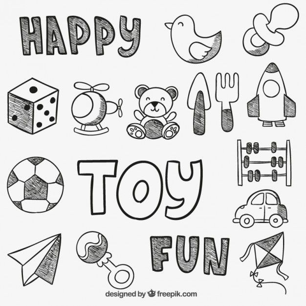 Free vector Hand drawn toys #3147