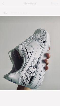 Air Force One Shoes, Nike Air Force Ones, Custom Sneakers, Custom Shoes, Naruto Shoes, Souliers Nike, Tenis Vans, Mens Valentines Gifts, Custom Air Force 1