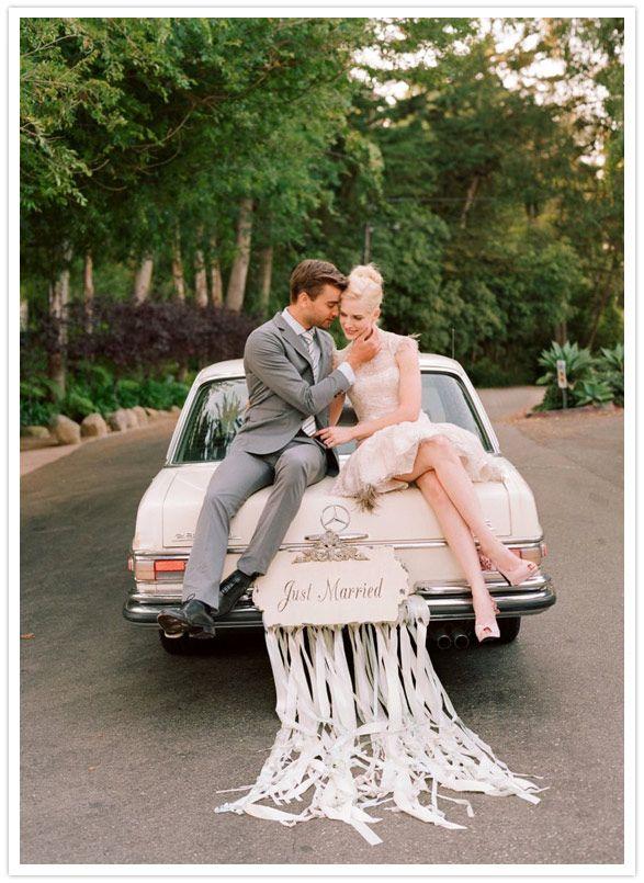 coche de huida de la boda
