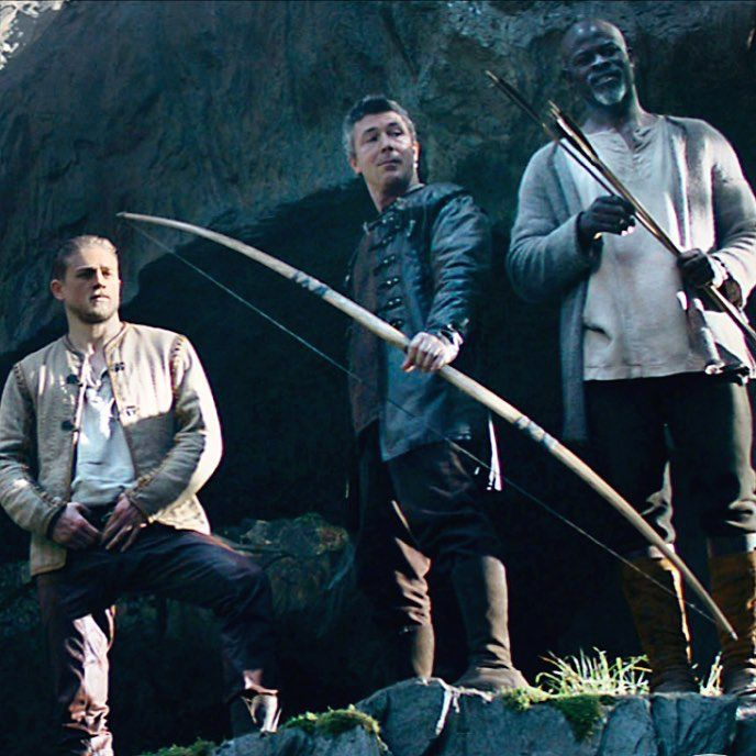 Aidan Gillen, Charlie Hunnam, and Djimon Hounsou in the upcoming King Arthur movie.