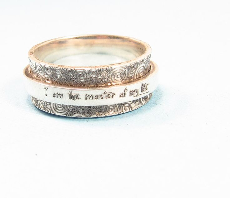 Personalized Silver Spinner Ring – Emily Jane Designs