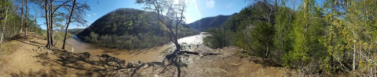 French Broad River from atop Paint Rock.
