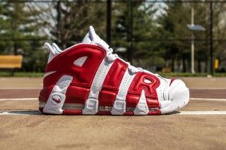 The Nike Air More Uptempo Releases In Gym Red | Highsnobiety