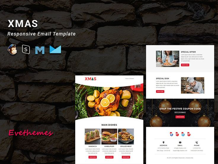 XMAS 3 Christmas Responsive Email Templates in 2020