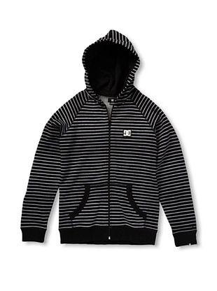 67% OFF DC Boy's 2-7 Cage Stripe Hoodie (Black)