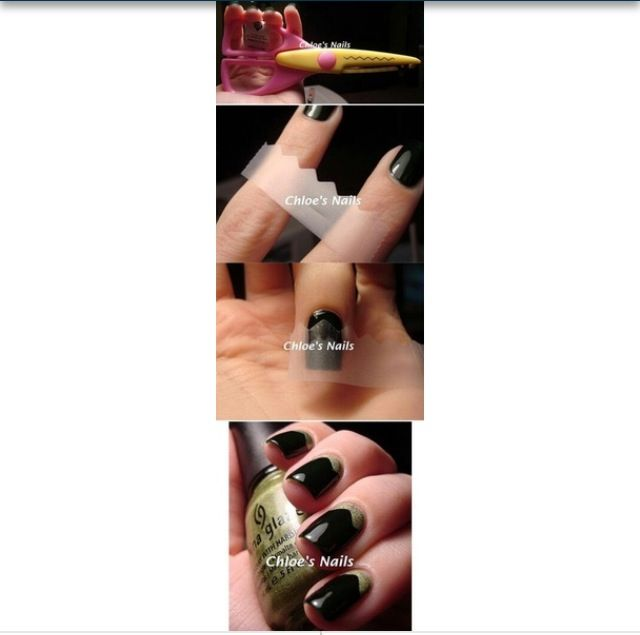 26 best nails images on pinterest colorful nails green nails 12 amazing diy nail art designs using scotch tape and craft scissors great idea to hide the gap where my gel manicure is growing out prinsesfo Choice Image
