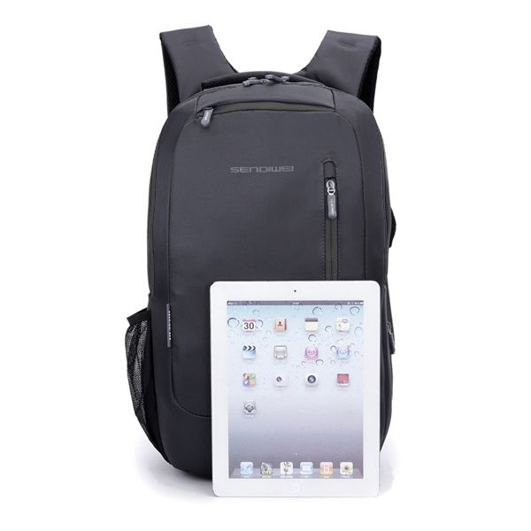 SENDIWEI Waterproof Nylon Business Laptop Computer Backpack With Encryption Fine Double-St