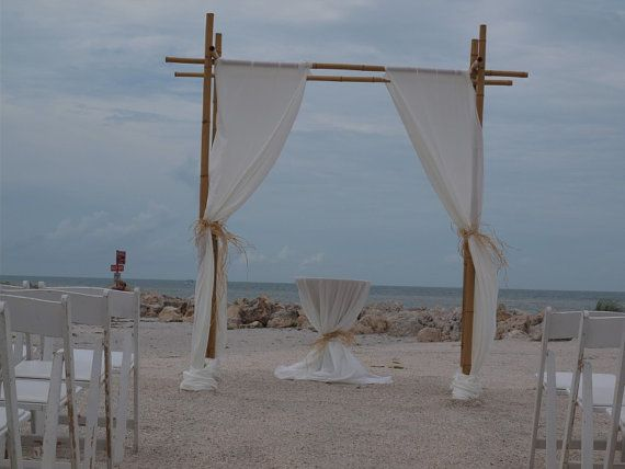 If Your Dreaming Of A Beautiful And Romantic Beach Wedding This Easy DIY Bamboo Arch Package Will Save You Tons Money