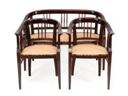 Sitzgruppe mit Sofa und 2 Sesseln, Wien, Jugendstil