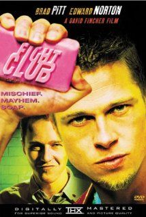 Fight Club--Although dark, I LOVE this movie!  Great twist, acting, and Helena Bonham Carter, Pitt, and Norton.  Yeah...