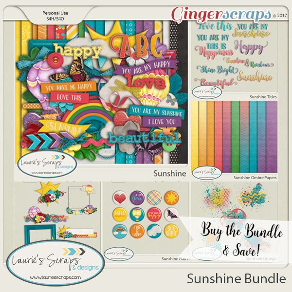 Sunshine Digital Scrapbooking kit. Great for those beautiful Spring Sunny Day layouts!