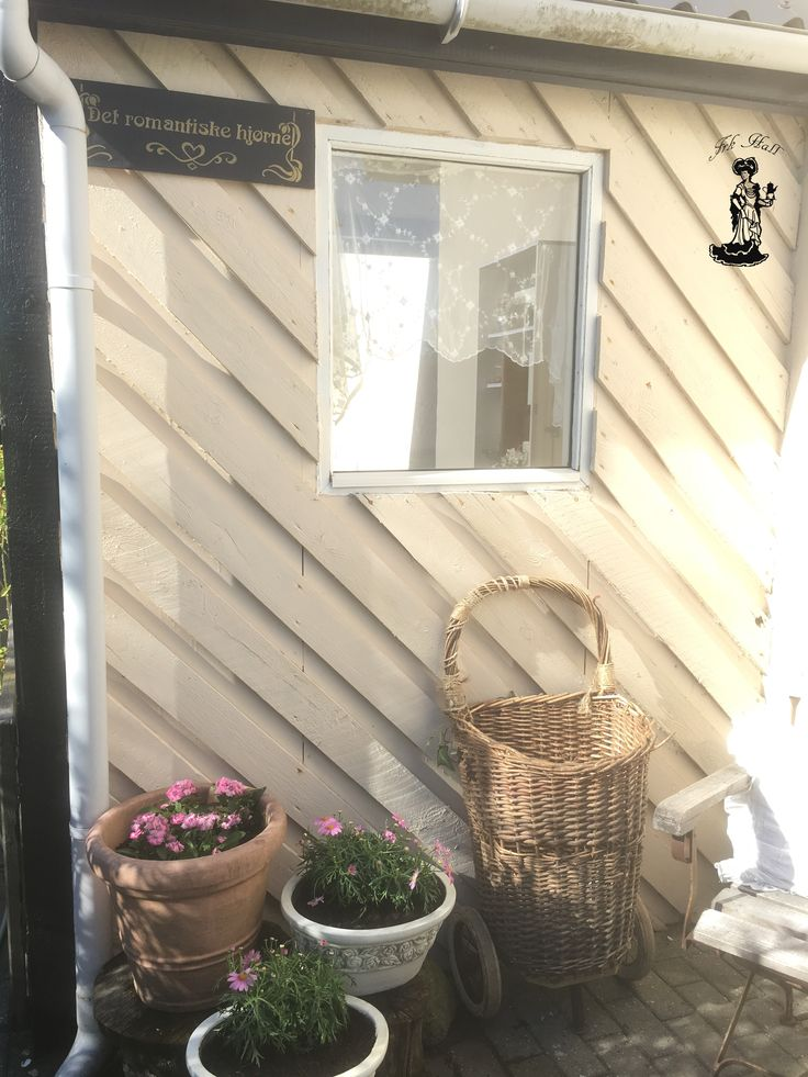 A romantic beautiful shabby chic corner of my garden