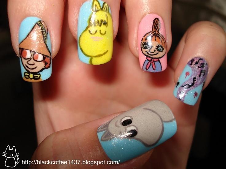 Moomin nails!
