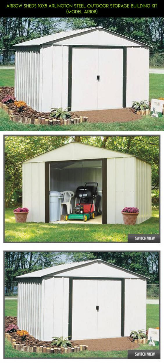 Arrow Sheds 10x8 Arlington Steel Outdoor Storage Building Kit (model AR108) #shed #technology #gadgets #camera #kit #products #parts #a #shopping #drone #tech #racing #storage #plans #fpv