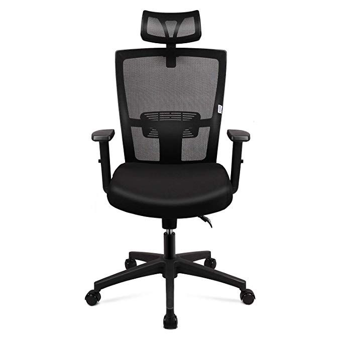 Mfavour Chaise De Bureau Pivotante Siege Confortable Fauteuil Ergonomique Hauteur Apui Tete Soutie Ergonomic Office Chair Heavy Duty Office Chair Office Chair
