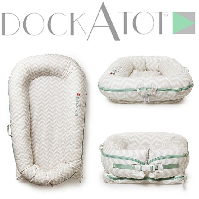 The baby gear essential from Sweden is finally available in the US. DockATot baby lounger combines style, functionality and smart design in one amazingly comfy infant and toddler lounger/co-sleeper. Our portable baby bed is for newborns through preschoolers. It's ideal for crib to bed transition. The chevron print is a must for stylish baby nurseries and one of the best baby registry items around. Celebrity moms love DockATot and so will you!