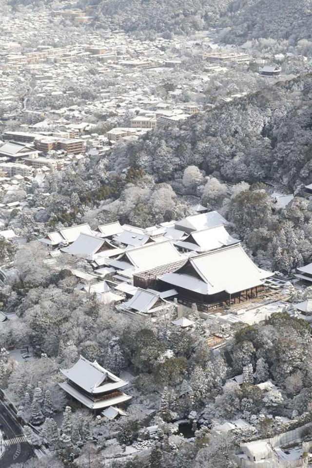 Kyoto in snow, Japan 雪化粧の京都
