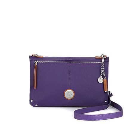 JOY Leather Foldover Crossbody Bag with RFID Protection
