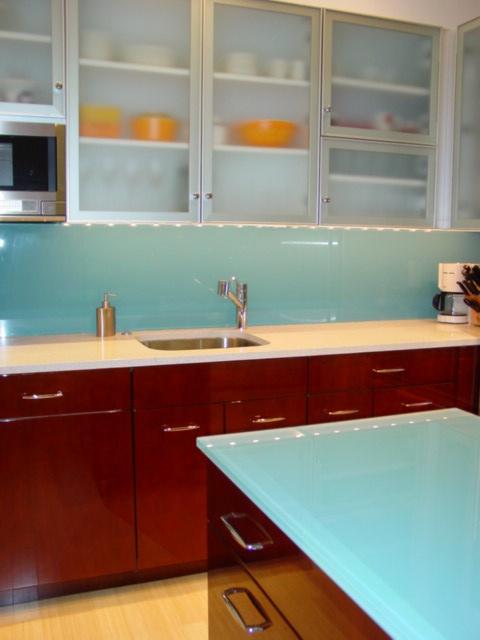 Fresh Aluminum Frame Glass Kitchen Cabinet Doors