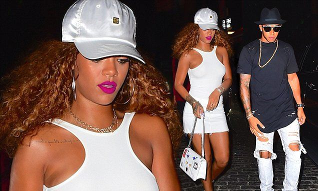 Rihanna goes braless for Lewis Hamilton rendezvous