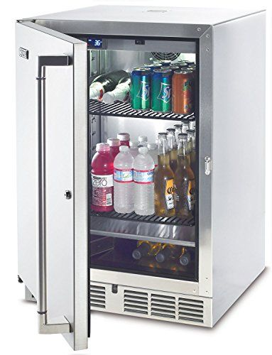 lynx stainless steel outdoor refrigerator kegerator 24inch rh pinterest com Outdoor Fridge Outdoor Fridge