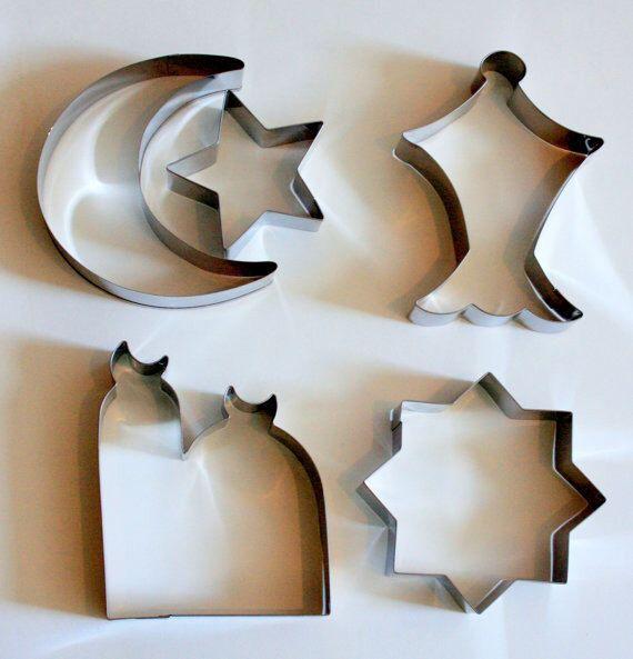 Ramadan cookie cutters, ramadan decorations, eid cookie cutters, eid decorations, ramadan holiday, eid holiday, muslim holidays, eid gift by MuslimToysAndDollsCo on Etsy https://www.etsy.com/listing/287030667/ramadan-cookie-cutters-ramadan