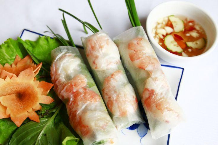 5 Best Vietnamese Foods. Photo of Goi cuon (Spring Rolls)