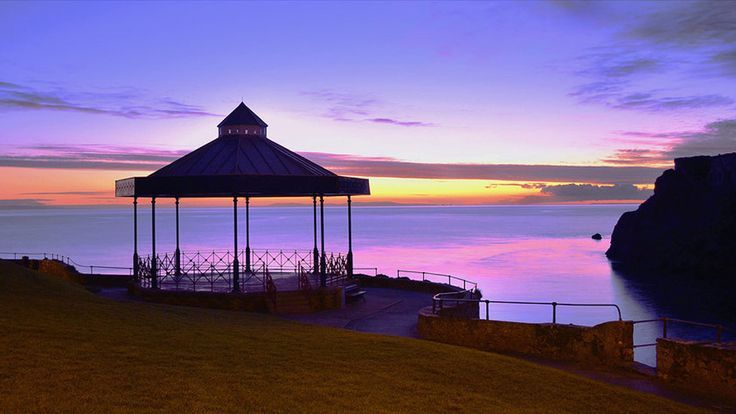 ~ Tenby bandstand at sunset ~ Wales ~ UK ~