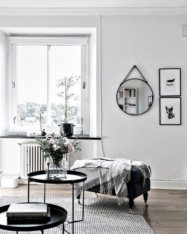 Black and white interior style lounge