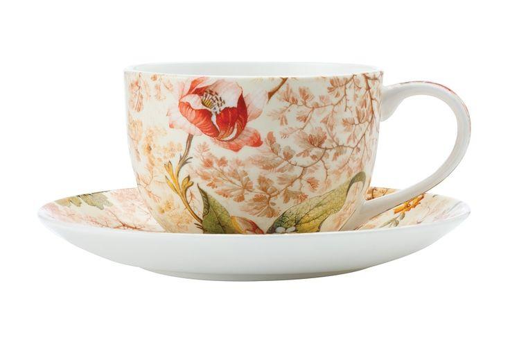 Чашка с блюдцем из костяного фарфора «Консерватория» в подарочной упаковке      Бренд: Maxwell & Williams (Австралия);   Страна производства: Китай;   Материал: костяной фарфор;   Объем чашки: 250 мл;          #bonechine #chine #diningset #teaset #костяной #фарфор #обеденный #сервиз #посуда  #обеденныйсервиз #чайныйсервиз #чайный  #чашка #кружка #набор #сервировка #cup #mug #set #serving #tea #чай