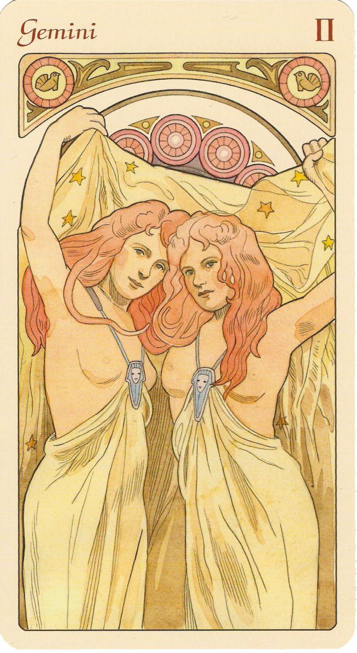 Art Nouveau Gemini art print.  Get in-depth info on Gemini traits & personality @ http://www.buildingbeautifulsouls.com/zodiac-signs/western-zodiac/gemini-star-sign-traits-personality-characteristics/