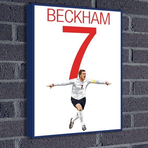 ENGLAND DAVID BECKHAM FOOTBALL   PHOTO PRINT ON FRAMED CANVAS  WALL ART