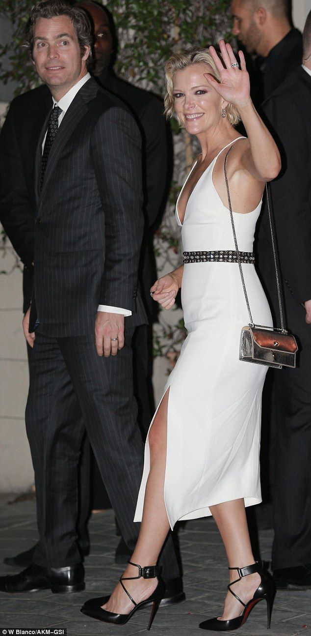 Date night: Megyn Kelly and husband Douglas Brunt (above) attended an exclusive post-Golden Globes bash hosted by CAA at the Sunset Tower Hotel