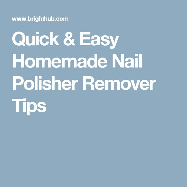 Best 25 Homemade Nail Polish Ideas On Pinterest
