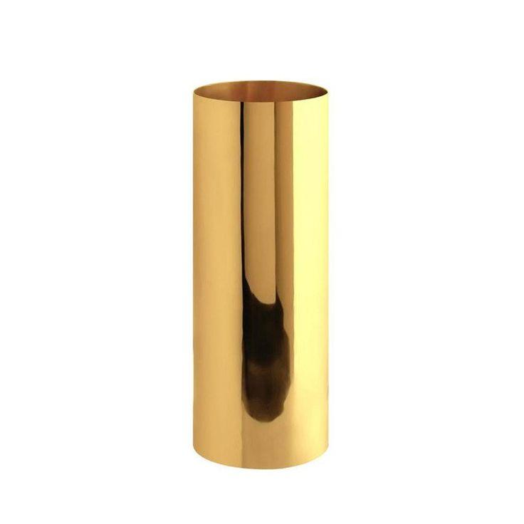 Gusums Messing ~ Vas cylinder i mässing 18 cm hög - SovrumsShoppen.se
