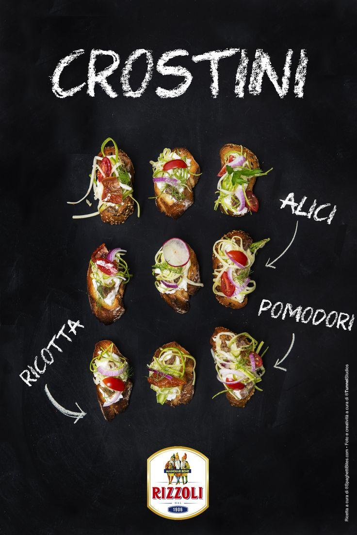 RIZZOLI-Ricetta crostini con alici in salsa piccante-ricetta www.spaghettibites.com