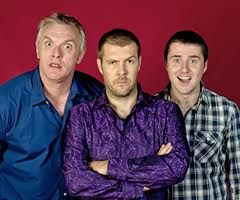 Greg Davies,Rhod Gilbert and  Lloyd Langford