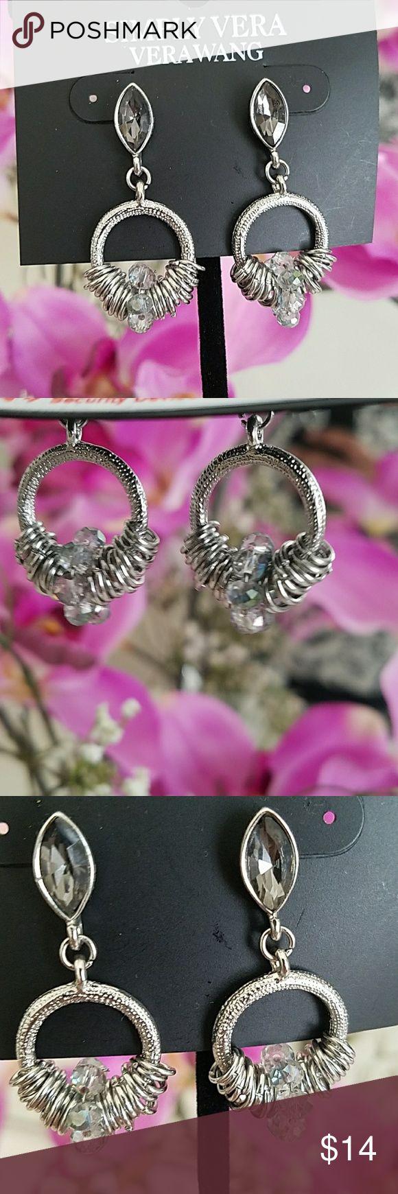 Simply Vera Vera Wang Earrings Beautiful brand new with tag Simply Vera Vera Wang Earrings. No damages. Silver with clear crystal balls. Simply Vera Vera Wang Jewelry Earrings