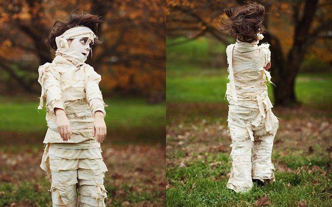 Ideias de fantasias e maquiagens de Halloween para crianças - Múmia