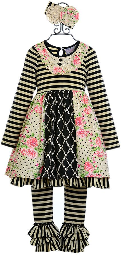 Serendipity Girls Dress Set with Roses (12Mos18Mos24Mos568)
