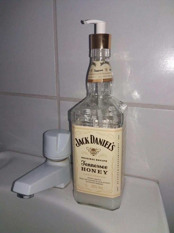 Dispenser de sabão líquido com garrafa de Jack Daniels Honey de 1L
