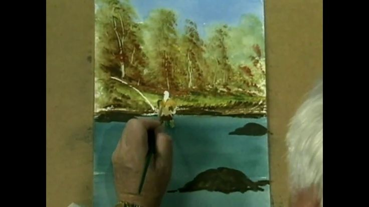 Frank Clarke Simply Painting Fisherman At Kakebeka Falls