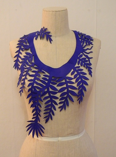 ultra suede floral cut out necklace1 by Danny W. Mansmith, via Flickr