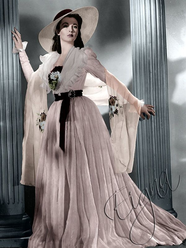 """Vivien Leigh as Emma, Lady Hamilton from the movie """"That Hamilton Woman"""", 1941. Directed by Alexander Korda. Costume design by RENÈ HUBERT."""