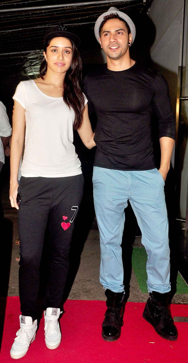 Varun Dhawan with Shraddha Kapoor at special screening of 'Finding Fanny'…