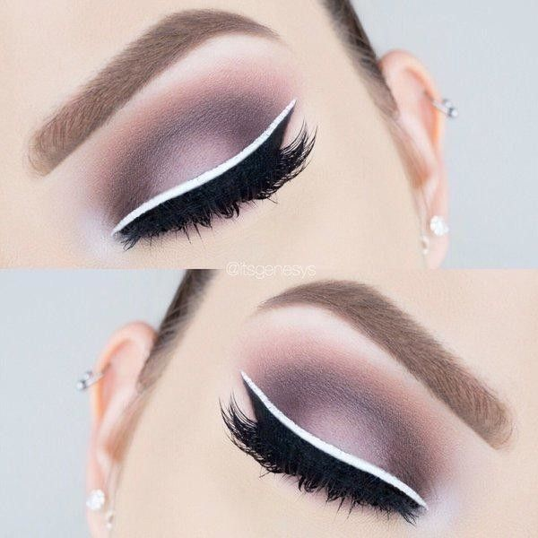 White liner for an eye catching look.