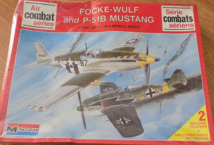 Complete, Sealed 1988 Monogram Model Kit of Focke-Wulf and P-51B Mustangs Plane 1/48 Scale. Contains 2 plane models! by XtraThings on Etsy