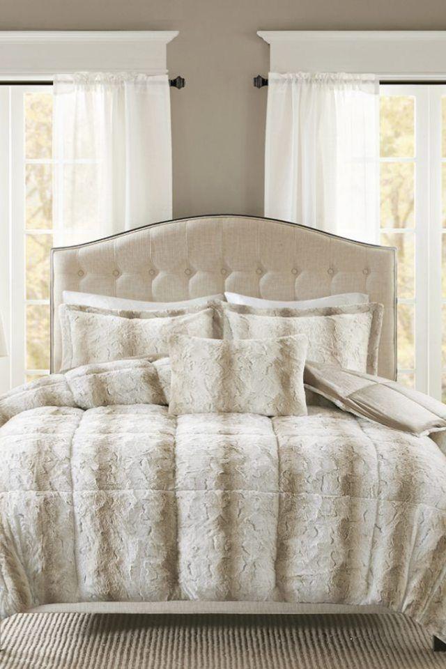 Madison Park Zuri Faux Fur Comforter Set Fur Bed Set Idea