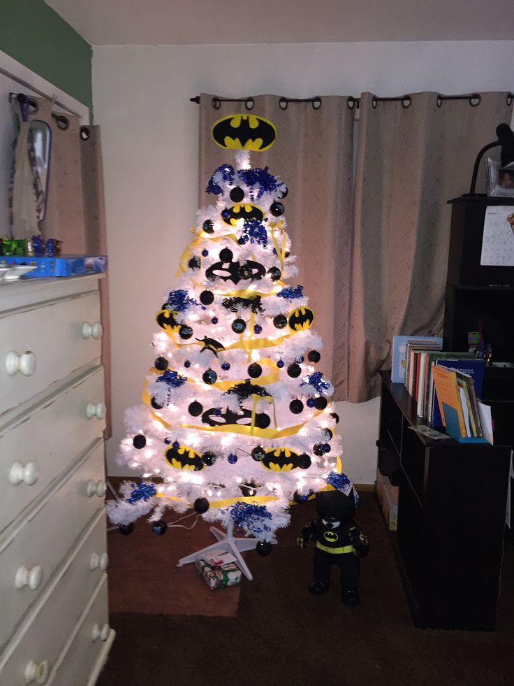 My son Batman Christmas Tree