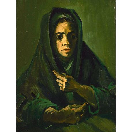 Reprodukcje obrazów Vincent van Gogh Woman with a Mourning Shawl - Fedkolor